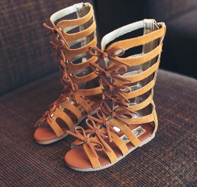 5b6c6b61f0f2 Top Quality 2018 summer fashion Roman boots High-top girls sandals kids gladiator  sandals toddler