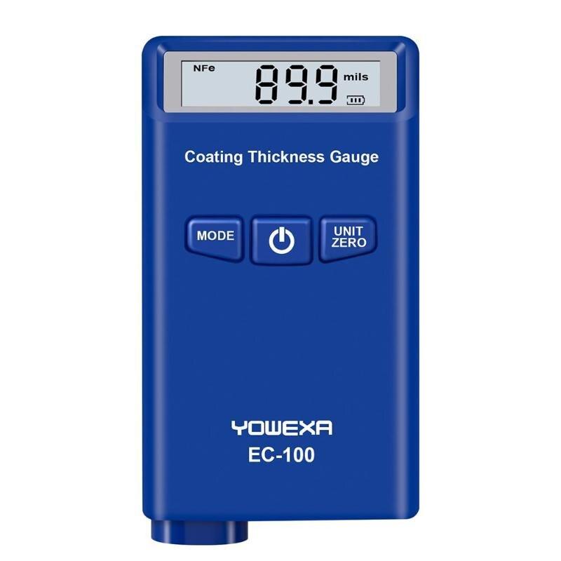 New Digital EC-100 Medidor da Espessura de Revestimento Medidor de Espessura Da Pintura Do Carro Auto Verificador da Espessura da Película de Espessura Ferramenta de Medição