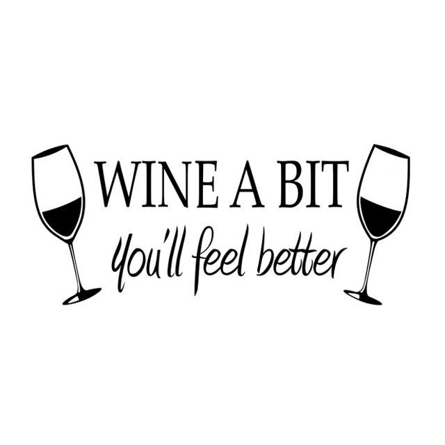 Autoadesivi Della Parete Del Pvc Bicchiere Di Vino Rosso Vino Un Po