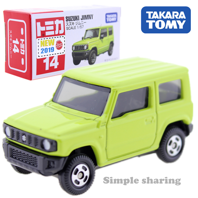Takara Tomy Tomica #14 Suzuki Jimny Scale 1:57 Diecast Green Toy Car Motors Vehicle Diecast Metal Model New Kids Toys