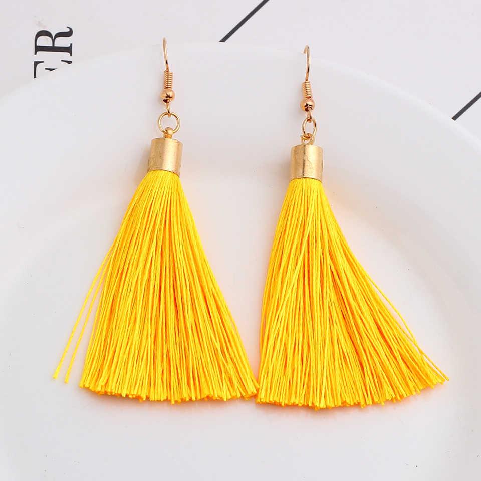 bohemia tassel earrings vintage drop dangle pendientes mujer moda 2019 earrings for women earings fashion jewelry oorbellen