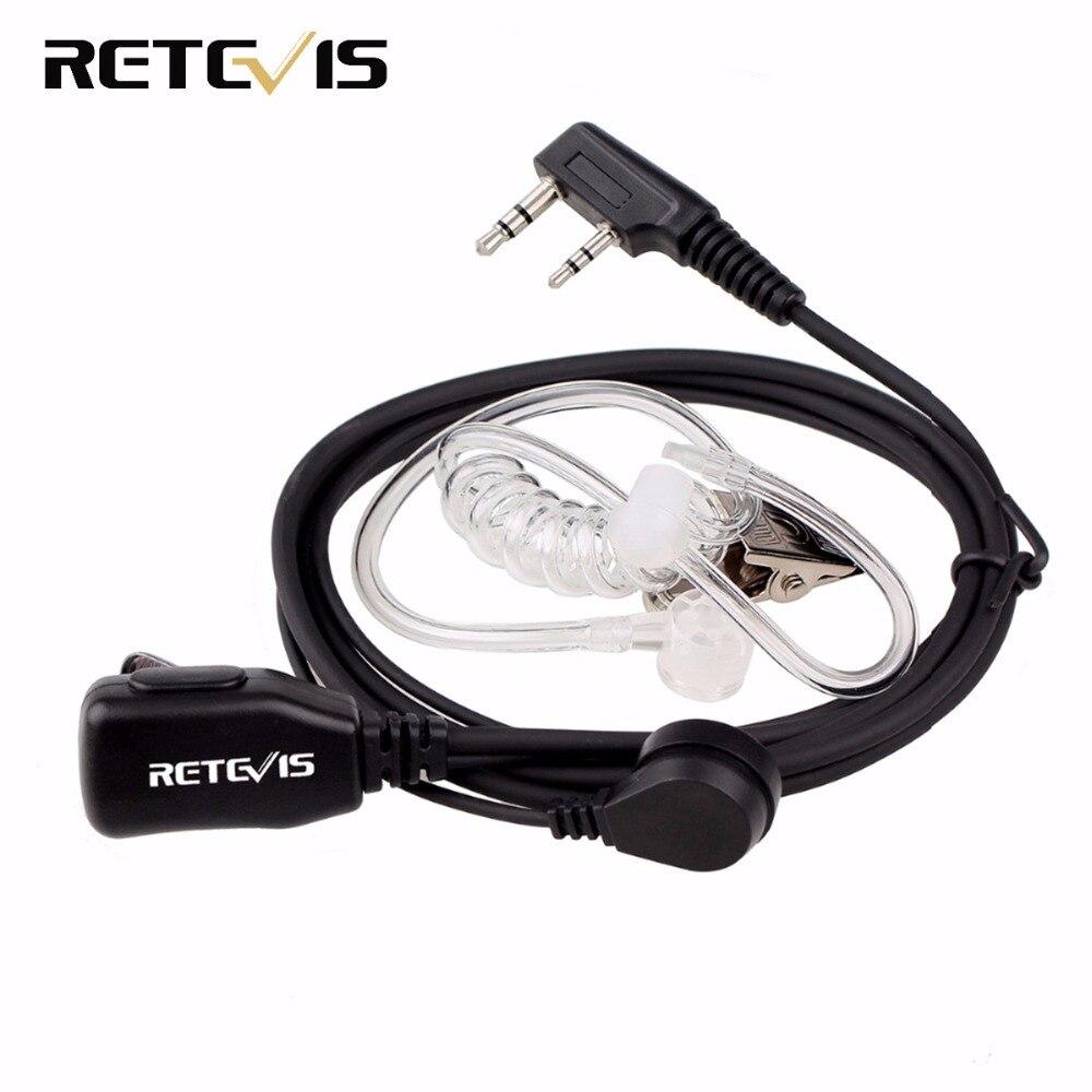 Retevis PTT MIC Earpiece Walkie Talkie Headset for KENWOOD BAOFENG UV-5R BF-888s Retevis H777 RT22 TYT HYT Walkie Talkie C9003A