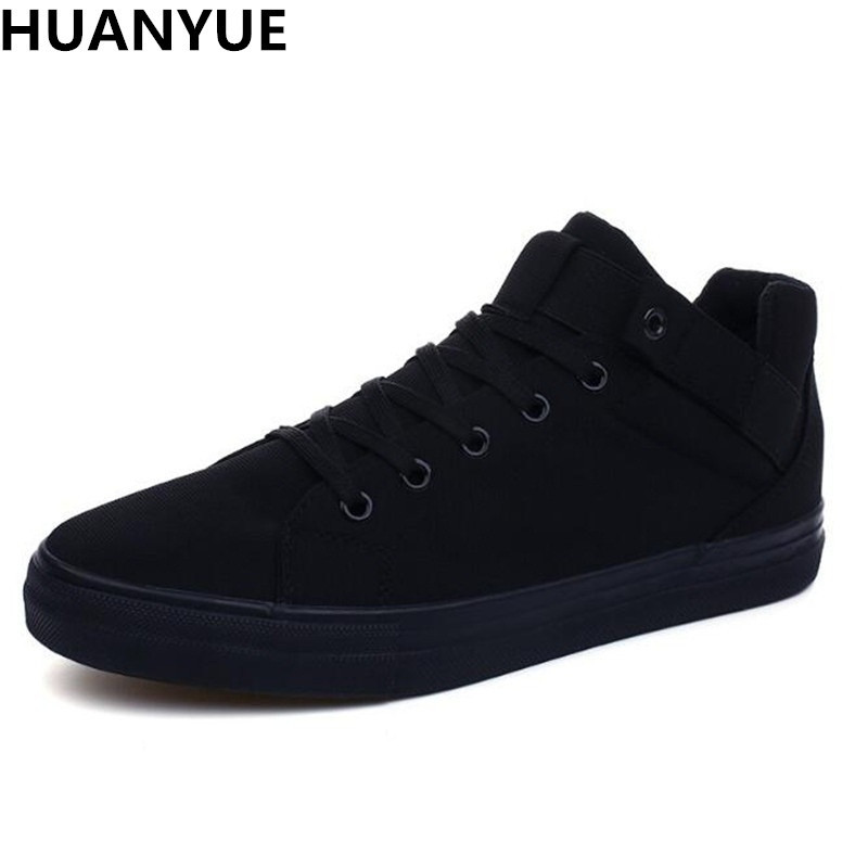 HUANYUE Breathable Men Casual Canvas Shoes Mens Flats