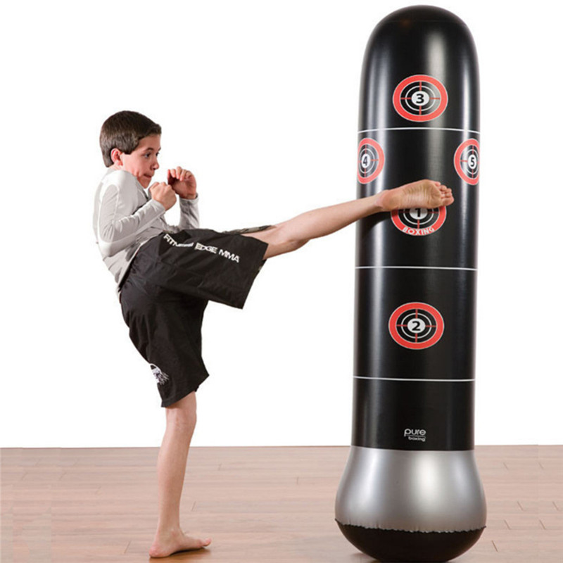 1.5M New Inflatable Stress Punching Tower Bag Boxing Standing Water Base Training Pressure Relief Bounce Back Sandbag with Pump