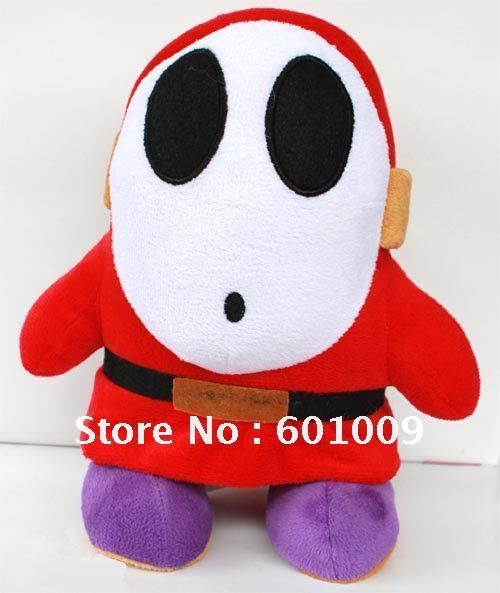"""Super Mario Bros Plush Toy Shy Guy 10"""" Figure Doll Wholesale And Retail"""