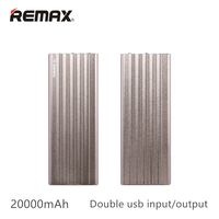 Remax 20000 mAh doble usb Banco de Potencia de salida con Indicador LED de Batería Externa Cargador Portátil de Copia de seguridad Para iPhone5 6 7 Samsung