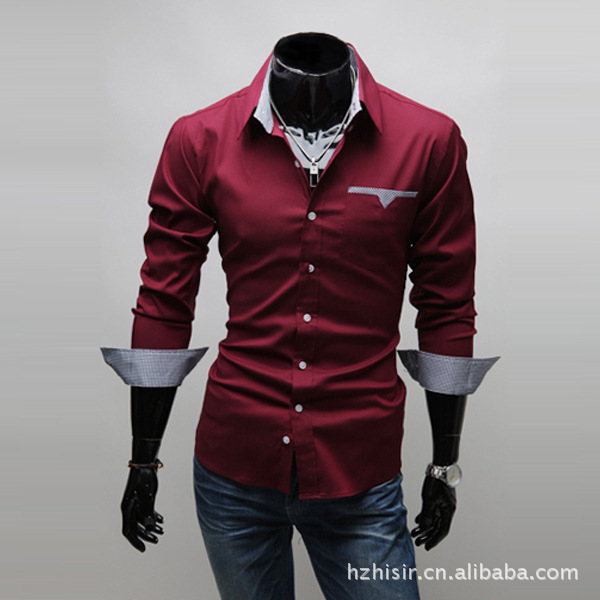 1026 30 De Descuentoropa Para Hombre Camisa Negra De Manga Larga Camisa Ajustada Formal De Cuello De Solapa Camisa Casual Hombres Ropa M 3xl