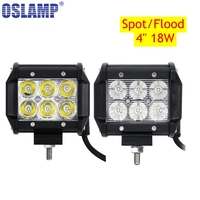 2x 18W Cree Flood Spot Beam LED Work Light Bar Offroad 12V 24V 4x4 4WD LED