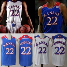 8e54b3cbcdb ... kansas jayhawks mens 22 andrew wiggins college basketball jersey blue white  stitched size s