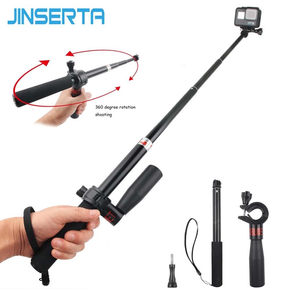 JINSERT Bullet Time Bundle Selfie Stick Rotation Handle For Insta360 One Insta 360 Sport Camera Gopro Xiaoyi Camera Accessories