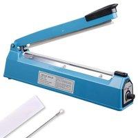 12 300mm Impulse Manual Hand Sealer Heat Sealing Machine Poly Tubing Plastic Bag w/ Spare Teflon & Sealing Elements