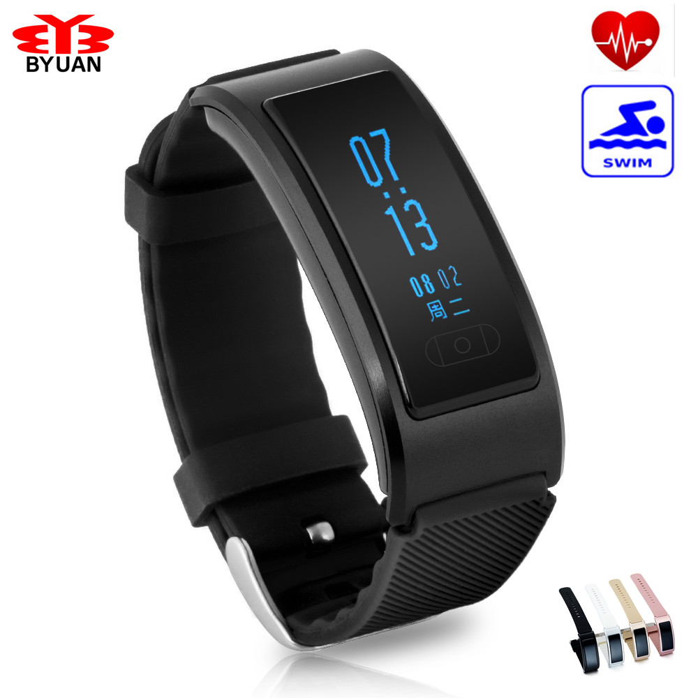IN STOCK 2017 Bluetooth Smart Bracelet smart band Heart Rate Monitor Wristband Fitness Tracker for Android