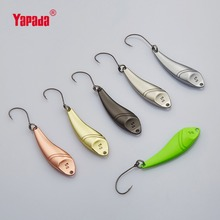 YAPADA ложка 023 Горячая рыбы 2 г/3 г/5 г многоцветный один крючок 28-32-40mm 6 шт./лот из металла ложка Рыболовные приманки