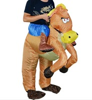 Inflatable Cowboy Dinosaur Costume Ride On Horse Fancy Dress Halloween Party Cosplay Costumes Adult Inflatable Horse