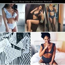 Sexy High Waist Bikini Women Swimwear Push Up Swimsuit Ruffle Bathing Suit Polka Dot Biquinis Summer Beach Wear Female