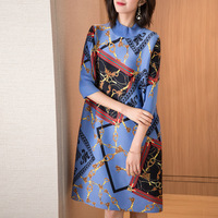 Printed Big Size Dress Spring Summer New Women's Loose Fashion New Dress