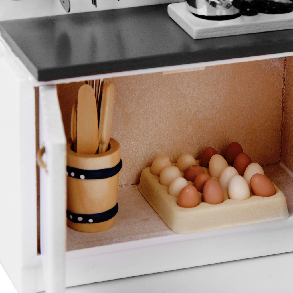 12 scale dollhouse furniture wooden kitchen set pretend play