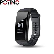 Potino S1 Bluetooth 4.0 сердечного ритма/сна Мониторы умный Браслет напоминание/сообщение push отслеживания активности для Android и IOS
