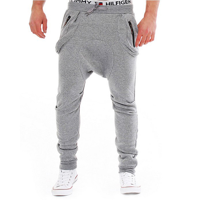 High Quality Loose Men Pants Casual  Gymcasual Stylish Pockets  Cotton Pants Slim Fit Sweatpants Male Hiphop Masculina13K02