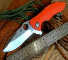 High quality C187 Ball Bearing Flipper Folding Knives Rubicon CPM-S30V Orange G10 Handle Tactical Camping Knife