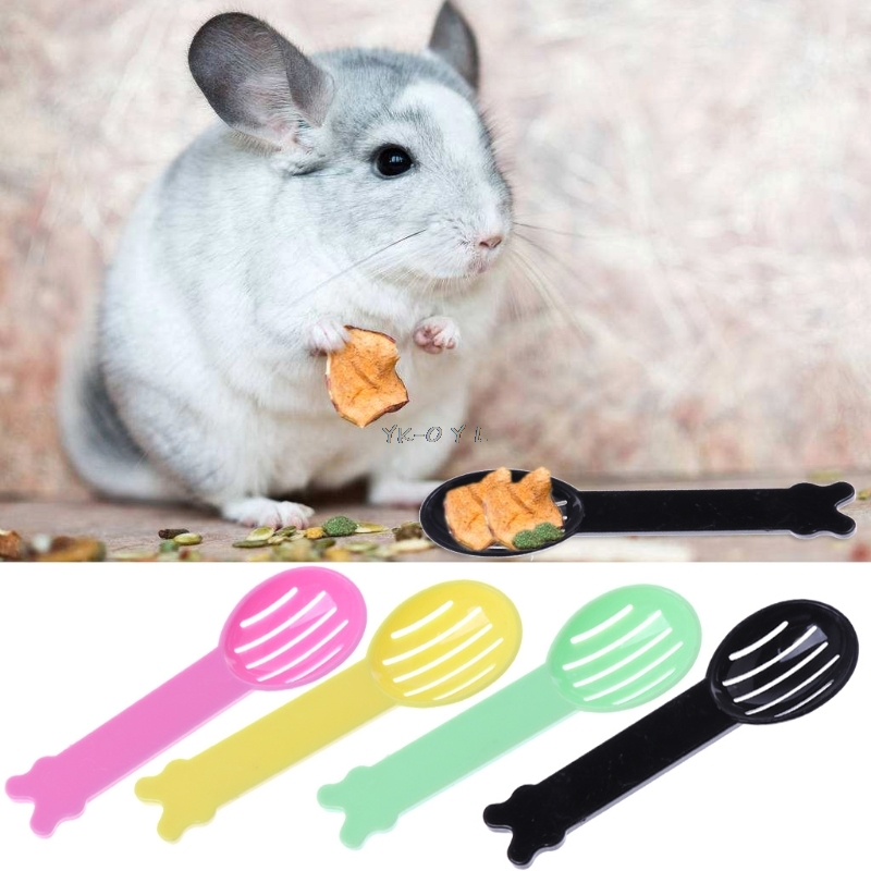 Hamster Pet Bath Spoon Small Animal Sand Spoon Hamster Guinea Pig Cleaning Tool