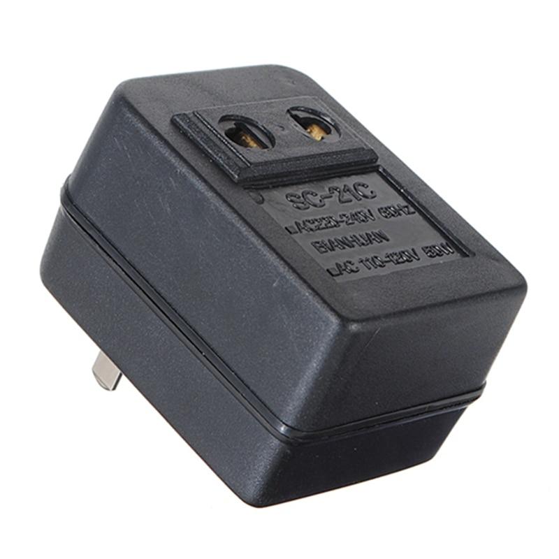 AC 220V to 110V AC Power Voltage Converter Adapter Travel Transformer 50W 200watt single phase ac 220v to 110v step down travel voltage transformer volt converter adapter