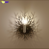 FUMAT Modern Nordic Wall Lamps Ghost Shadow Metal Wall Lamps Sconce Living Room Bedside Bedroom LED Art Wall Lights