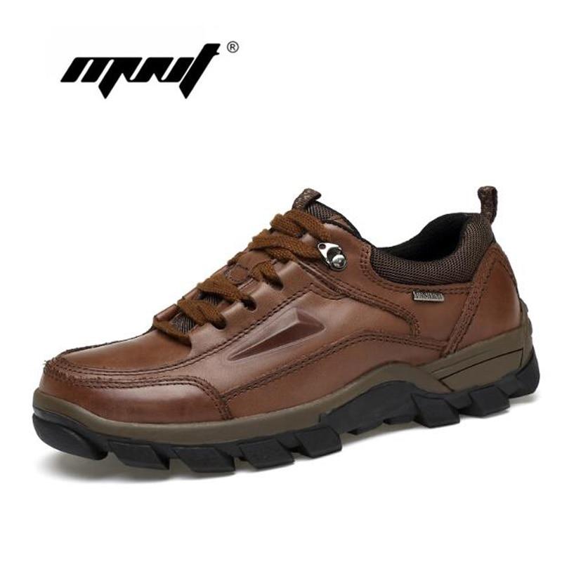 Plus Size Vintage Style Skor Män Full Äkta Läder Män Stövlar, Mode Vattentät Ankel Stövlar, Högkvalitativa Män Skor
