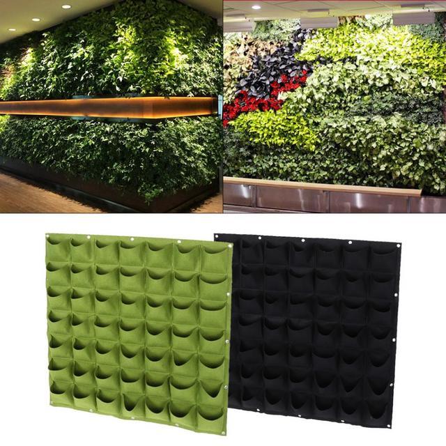 2017 Vertical Garden Planter Wall Mounted Planting Flower Grow Bag 49  Pocket Vegetable Living Garden