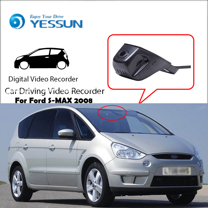 YESSUN Registrator S-MAX 2008 Driving Video-Recorder Wifi-Camera Control Dash-Cam Mini Dvr