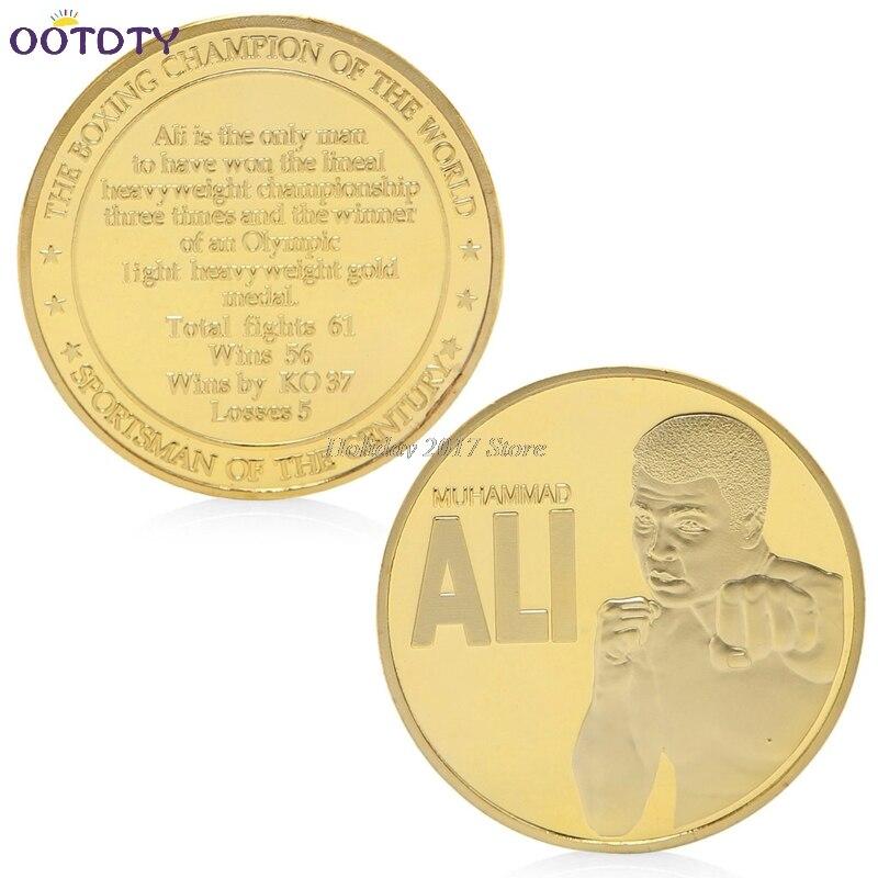 2017 The Boxing Champion Of World Muhammad Ali Gold Plated Commemorative Coin Token Jun21_25