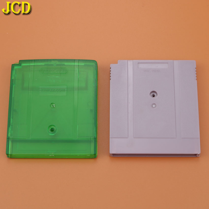 JCD 1PCS Clear Green / Grey Replacement for GBA SP W/ Screw Game Cartridge Housing Shell for <font><b>GB</b></font> GBA GBC GBP Game Card <font><b>Case</b></font> image
