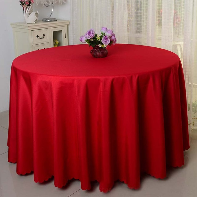 Perfect Free Shipping 10pcs Red Round Polyester Table Cloths Wedding Table Cloths  Banquet Event Hotel Decorative Table