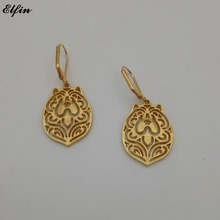 Elfin New Trendy Chow Chow Earings Fashion Jewelry Gold Color Silver Color Chow Earrings For Women