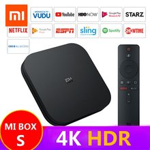 лучшая цена Global Xiaomi Mi TV Box S 4K HDR Android TV 8.1 Ultra HD 2G 8G WIFI Google Cast Netflix Smart IPTV Set top Box 4 Media Player