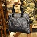 Kamuflaj moda Laptop çantası taşıması kolay 13 inç bilgisayar çantası erkek Laptop çantası basit Camo bilgisayar çantası