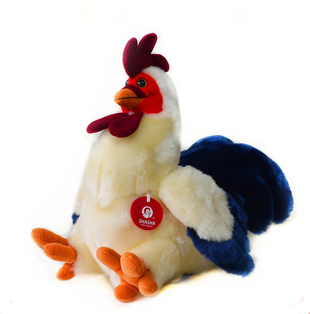 30cm simulation cock stuffed animal toys soft chicken plush toys dolls for kids christmasbirthday - Christmas Stuffed Animals
