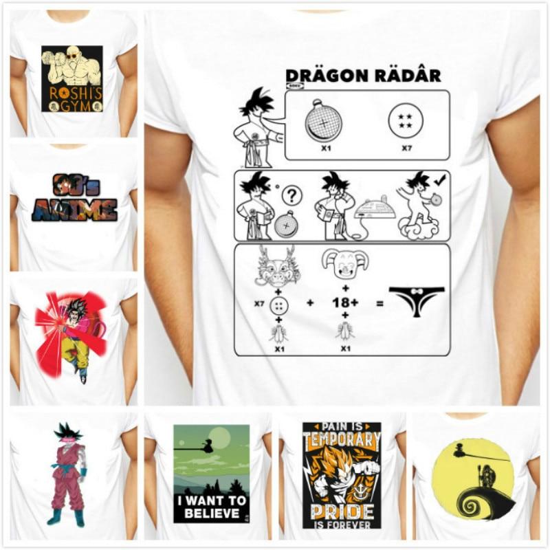 Males Anime Dragon Ball Z T shirt Super Saiyan son goku Summer Tee Shirt Mens anime Casual Short Sleeve T-shirt