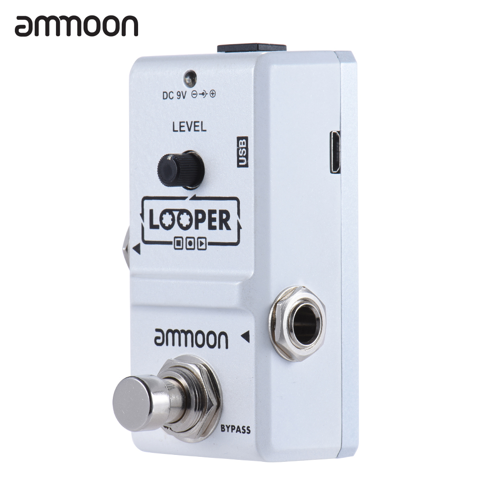 ammoon ap 09 loop guitar pedal looper electric guitar effect pedal true bypass unlimited. Black Bedroom Furniture Sets. Home Design Ideas