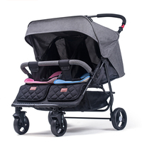 Twin baby stroller detachable light can sit reclining folding shock absorbers second baby double stroller bb car