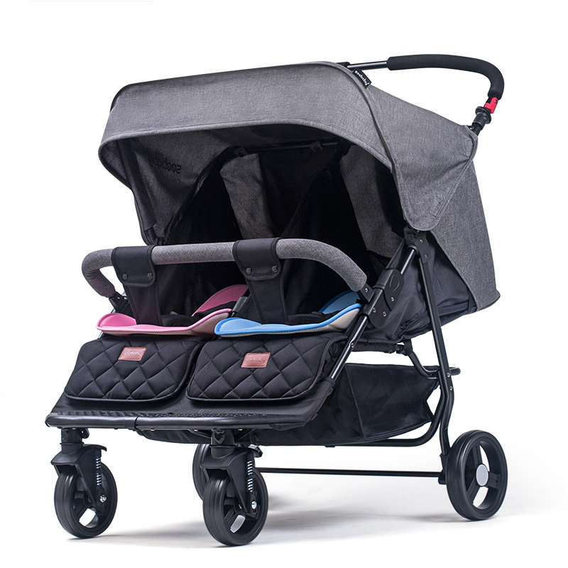 Twin baby stroller detachable light can sit reclining folding shock absorbers second baby double stroller bb car baby stroller baby stroller shock absorbers light folding stroller 4runner