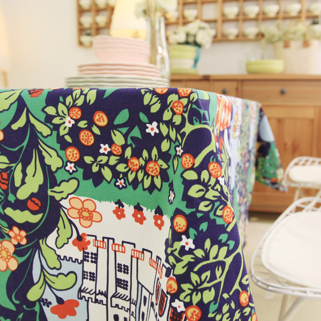 Attrayant 100% Cotton Cartoon Table Cloth Colorful Tablecloths Table Cover High  Quality Decoration Customized Wedding Gift
