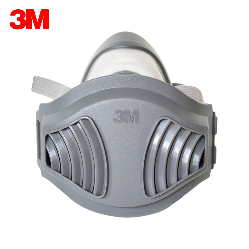 3M 1211 Masks +10pcs 1701 Filter cotton Half Face Gas Mask Dustproof Anti industrial Conatruction Pollen Haze Poison Protective airborne pollen allergy
