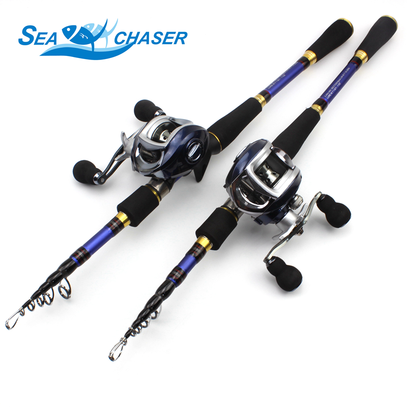 NEW 1.8M 2.1M 2.4M 2.7M Carbon Casting Rod and Spinning Reels Lure Set Trout Rod telescopic Travel fishing M power fast pole карта памяти cu50 8g 1080p
