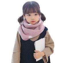 Новое хлопковое детское нижнее белье шарф теплый воротник детская зимняя вязаная шерстяная шапка шарф Детский шарф-хомут с круглым воротником шарф для девочек, для мальчиков шею детей Bufandas