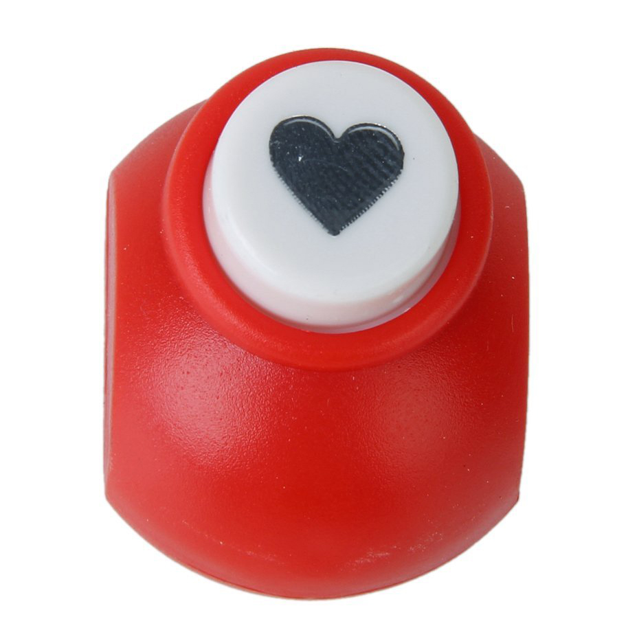 SOSW-Mini Paper Punch Scrapbooking Craft Heart Shape--Random Color