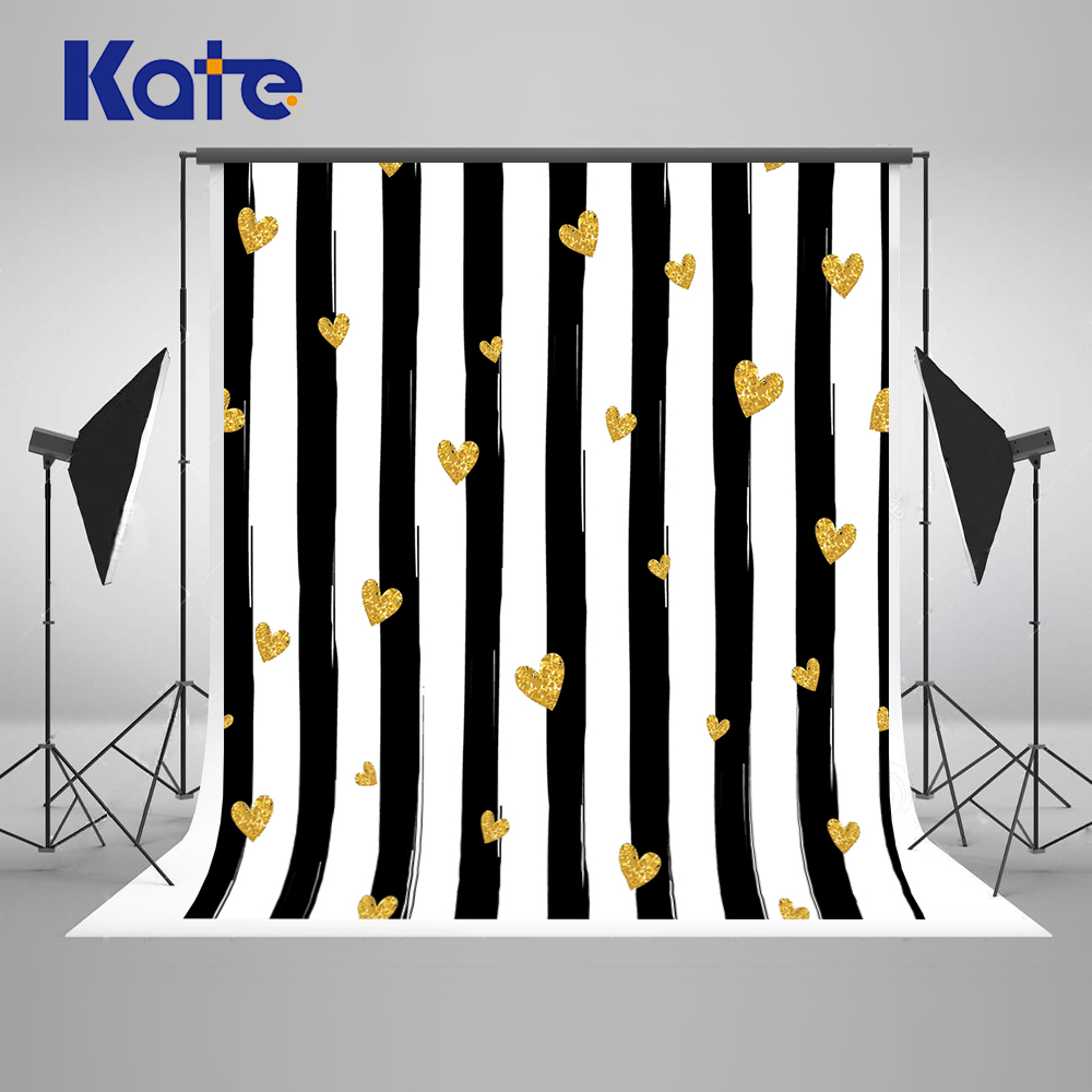 Kate Valentine'S Day Backgrounds For Photo Studio Black Strips Photography Backdrops Microfiber Newborn Photography Background сумка kate spade new york wkru2816 kate spade hanna