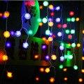 Novo Ano de 6x1 M Guirlanda Guirlandas de Natal Luzes LED Cristmas Decoração LED Luzes Cordas de Fadas Luzes De Natal Luces Navidad