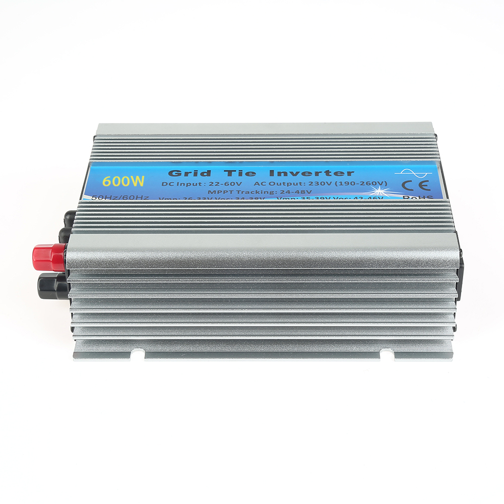 Grid Tie Inverter DC22V-60V to AC 230V Solar Inverter 600W Pure Sine Wave MPPT Solar System new 600w on grid tie inverter 3phase ac 22 60v to ac190 240volt for wind turbine generator