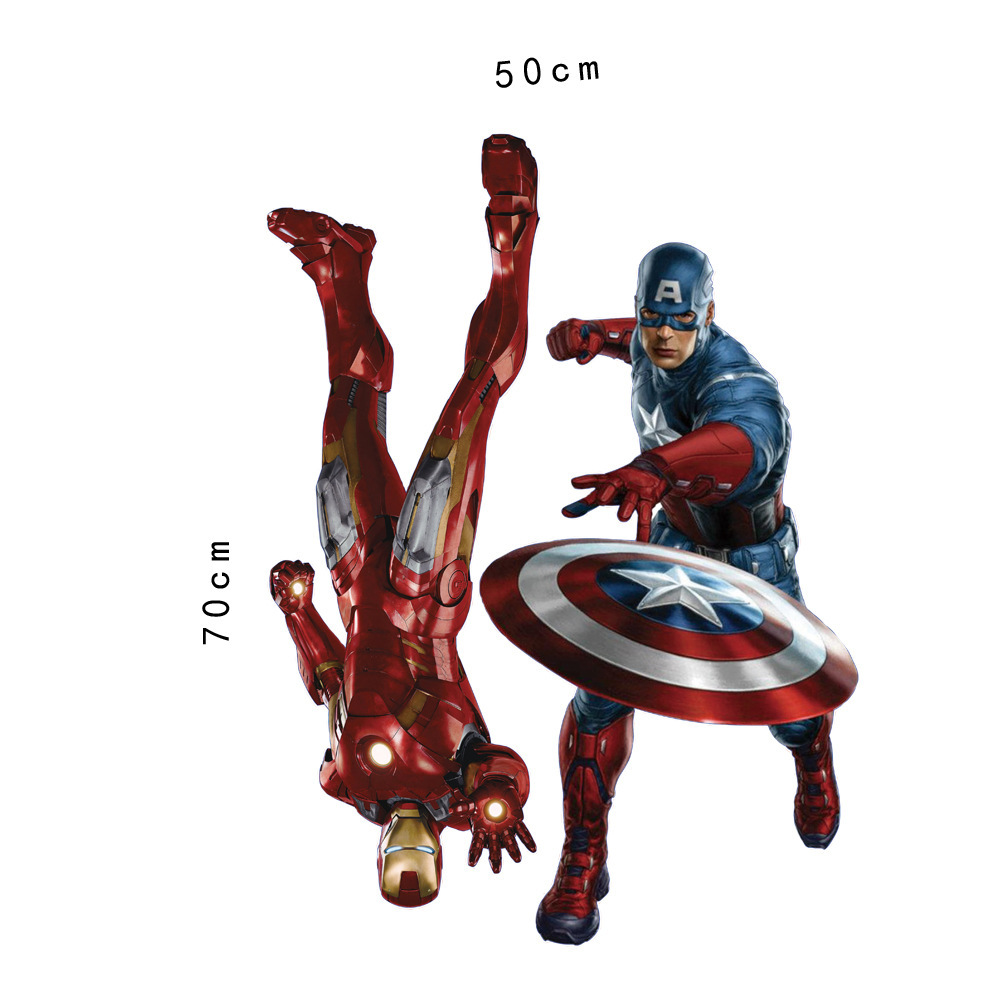 HTB1O h0gxHI8KJjy1zbq6yxdpXat - 3D movie Marvel hero Hulk iron Man For Kids Room